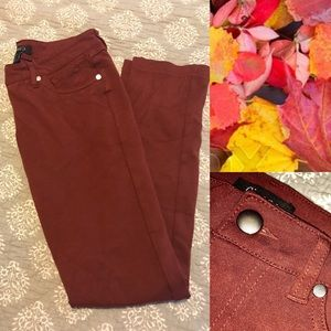 Cisono Maroon Business Casual Pants